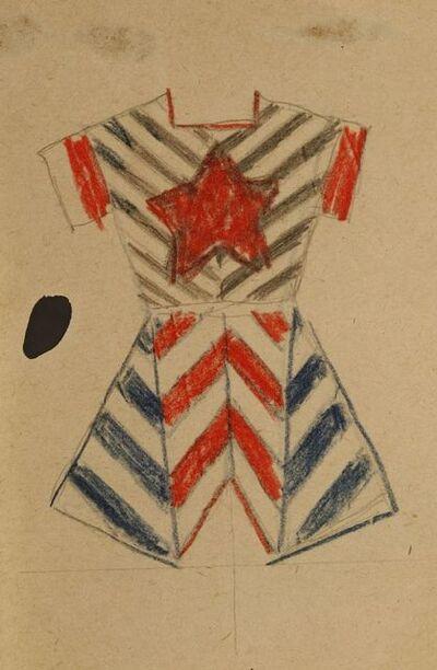 Varvara Fedorovna Stepanova, 'A COSTUME DESIGN'