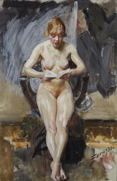 Anders Leonard Zorn, 'Läsande modell (Reading model)', 1916