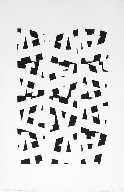 Clemente Padín, 'Texto XX', 1984
