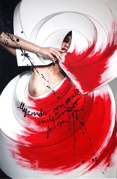 Efren Isaza, 'Color Origami Spiral II', 2010