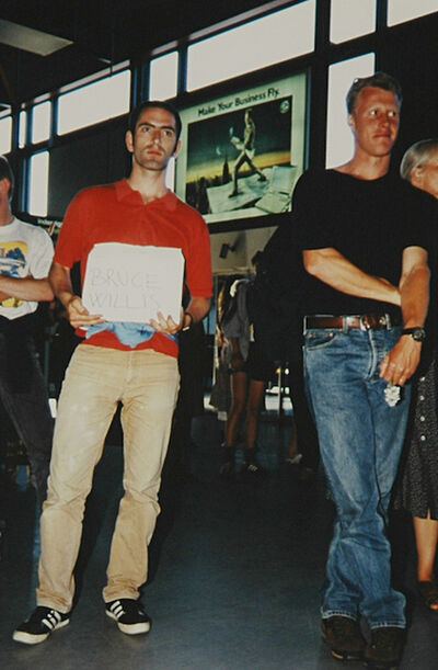 Jonathan Monk, 'WAITING FOR FAMOUS PEOPLE (BRUCE WILLIS)', 1995