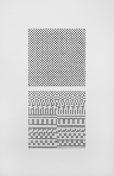 Jennifer Losch Bartlett, 'Vertical Black and White Dots', 1973