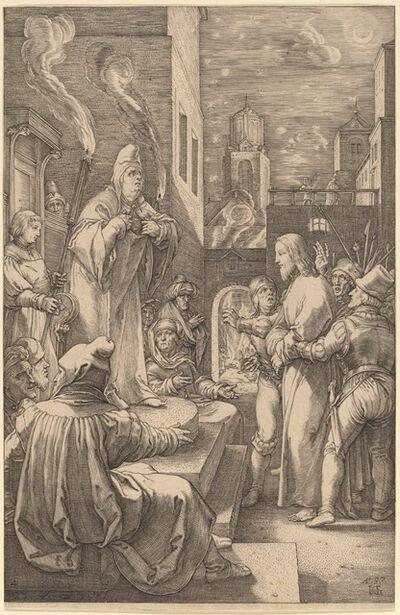 Hendrik Goltzius, 'Christ before Caiphas', 1597