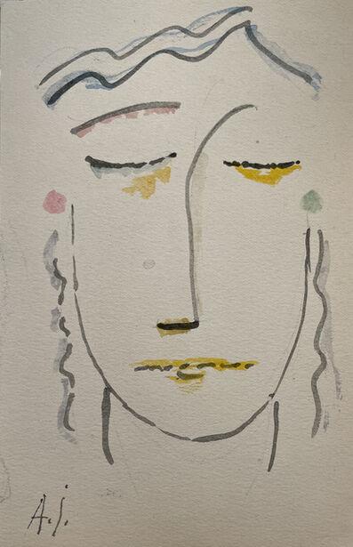 Alexej von Jawlensky, 'Kopf mit geschlossenen augen', 1920/21