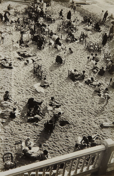 Josef Albers, 'Kleiner Strand am Nachmittag (small beach in the afternoon), Biarritz', ca. 1929