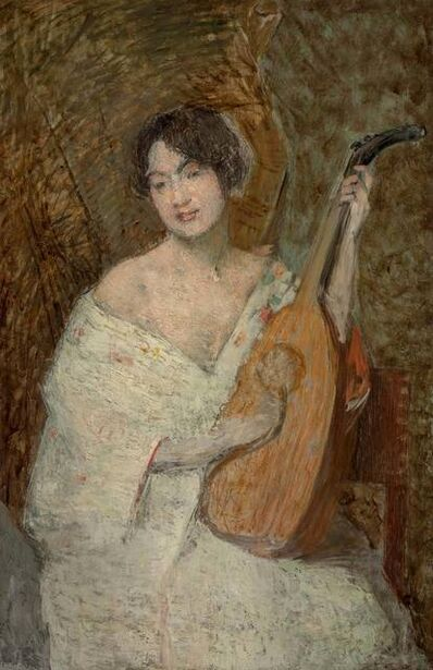 Julian Alden Weir, 'Lady with Mandolin'