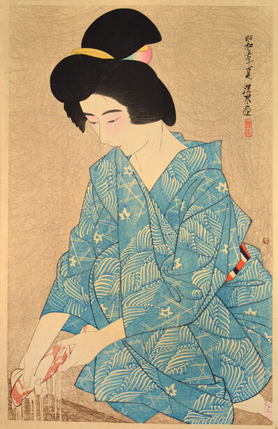 Itō Shinsui, 'After the Bath', 1930
