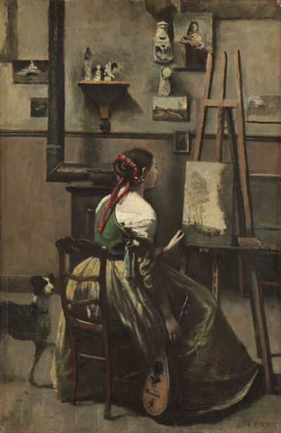 Jean-Baptiste-Camille Corot, 'The Artist's Studio', ca. 1868