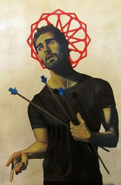 Komail Aijazuddin, 'Icon with Arrows', 2016
