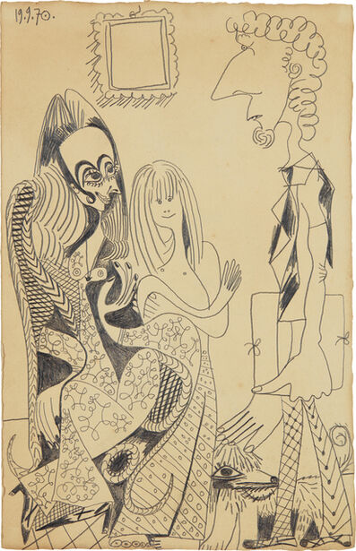 Pablo Picasso, 'La famille de Piero Crommelynck', Executed on September 19-1970