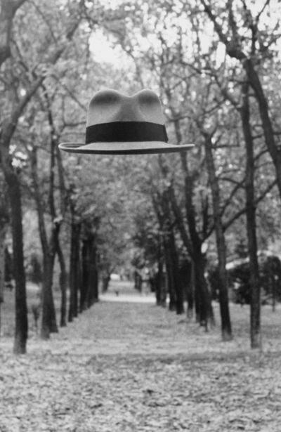 Chema Madoz, 'Untitled - (Floating hat in tree path)', 1982