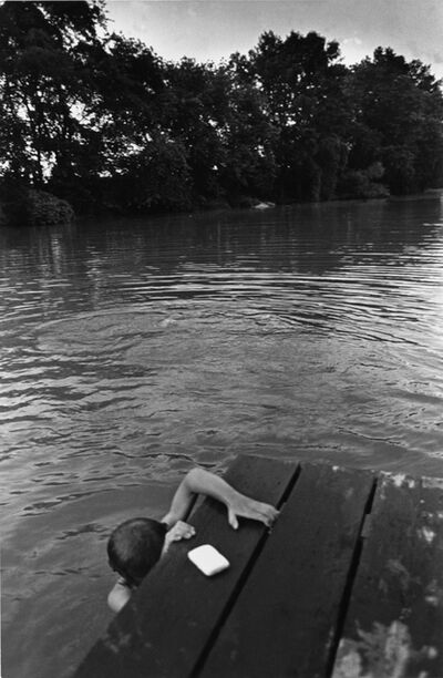 Larry Towell, 'Lambton County, Ontario, Canada [Bar of Soap on Dock]', 1996