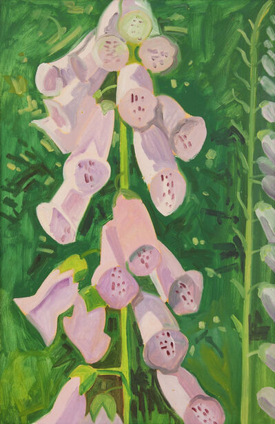 Lois Dodd, 'Foxgloves', 1987