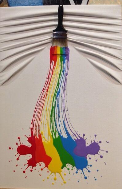 """Efraim Mashiah, '""""Lets Paint"""" Medium Rainbow on White', 2019"""
