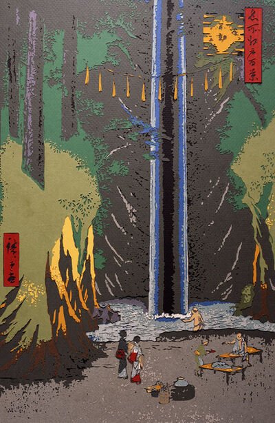 Vik Muniz, 'Fudo Falls, Oji, after Hiroshige', 2009