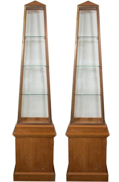 André Arbus, 'Pair of Obelisk Display Vitrines ', ca. 1940