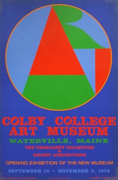 Robert Indiana, 'ART for Colby College Poster', 1973