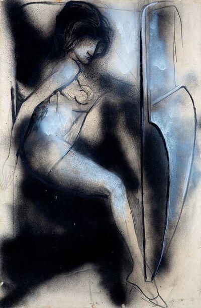 Renato Guttuso, 'Donna che scende dall'auto', 1966