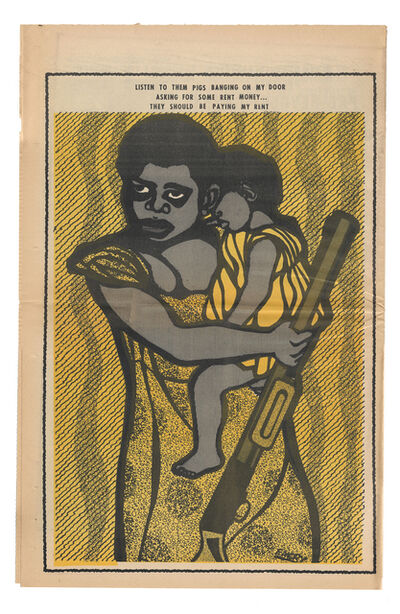 "Emory Douglas, '""They should be paying my rent""', 1971"