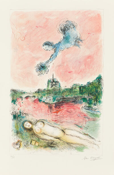 Marc Chagall, 'View of Notre-Dame', 1980