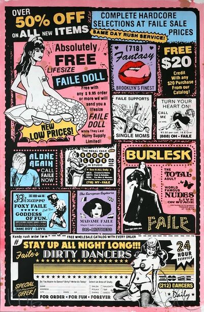 FAILE, 'Sexy Ad (Colour)', 2007
