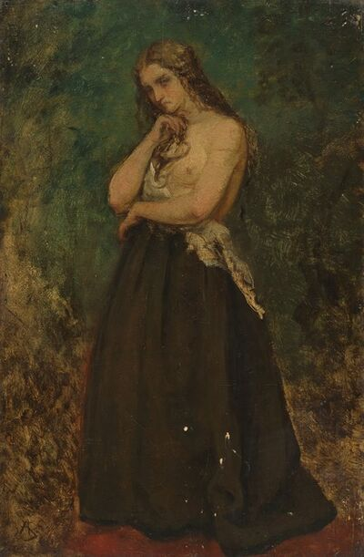 Alfred Stevens, 'Study of a Model'