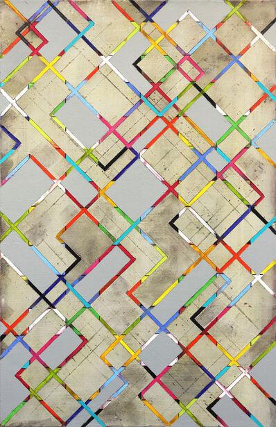 Petra Rös-Nickel, 'Diagonal Stripes 21-1', 2020