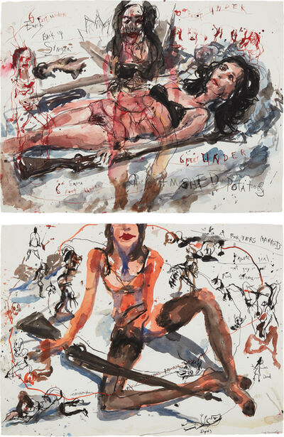 Brad Kahlhamer, 'Two works: (i-ii) Urban Prarie Girls', (i) 2005-(ii) 2004