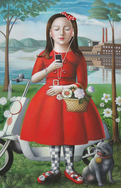 Amy Hill, 'Girl with Scooter'