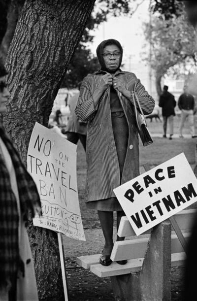 Jim Marshall, 'Oakland, 1965, Women's Vietnam Day Committee', 2017
