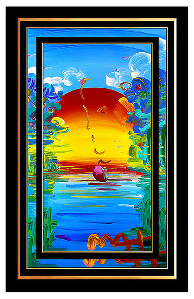 Peter Max, 'PETER MAX Original Signed PAINTING on CANVAS Acrylic BETTER WORLD Pop Art ICONIC', 21st Century