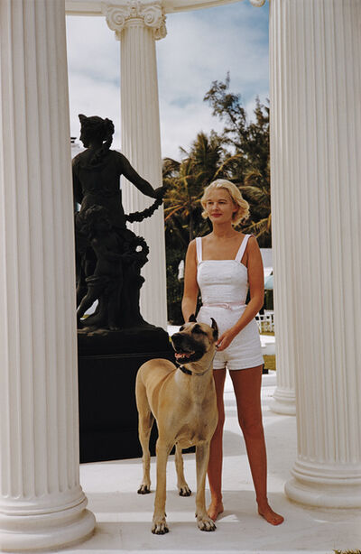 Slim Aarons, 'C.Z. Guest With Her Great Dane', 1955