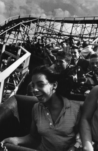 Harold Feinstein, 'Girl Riding the Cyclone, Coney Island', 1952