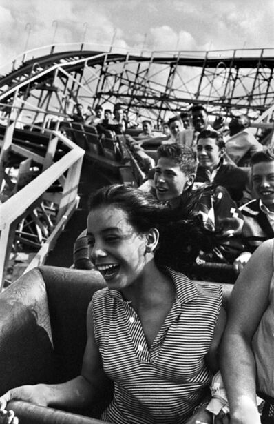 Harold Feinstein, 'Screaming on The Cyclone, Coney Island', 1952