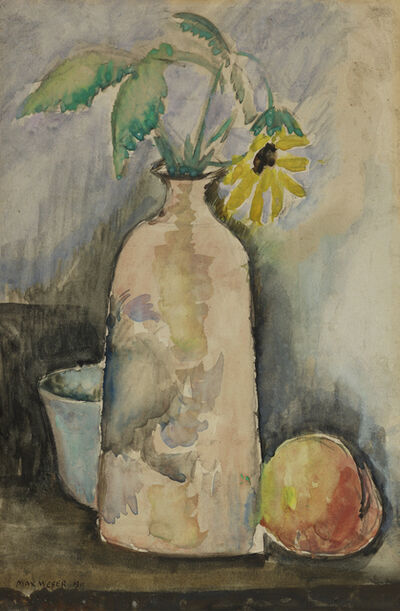 Max Weber, 'Still Life with Daisy, Bottle, and Peach', 1911