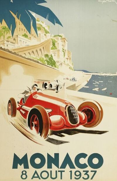 After George Ham and B Minne, 'THREE MONACO RACING POSTERS'