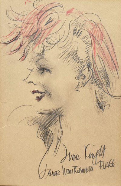 James Montgomery Flagg, 'Actress June Knight ', 1930-1940