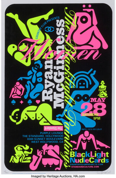 Ryan McGinness, 'Women: The Blacklight Paintings, (three works)', 2011