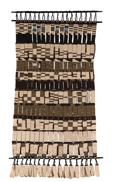 Olga de Amaral, 'Tejido doble en blanco, negro y gramote', 1965