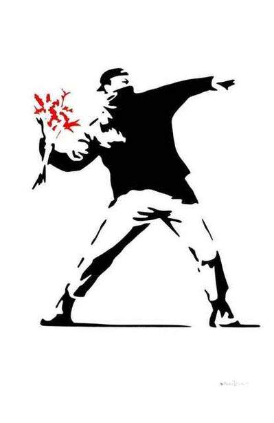 Banksy, '(After Banksy) Flower Thrower-Red', 2016