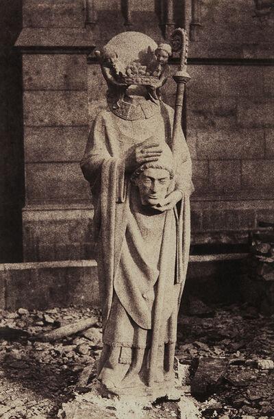 Auguste Mestral, 'Sculpture of St. Denis, Notre Dame, Paris', circa 1853