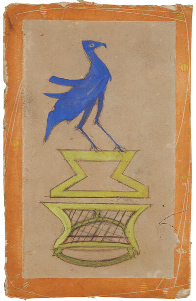 Bill Traylor, 'Construction: Basket with Bird', 1939-1942