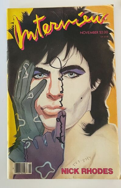 Andy Warhol, 'Interview Magazine signed by Andy Warhol (Nick Rhodes )', 1985