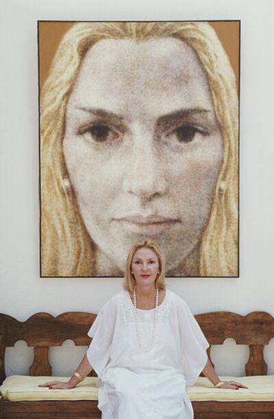 Slim Aarons, 'Mercedes Herrera De Benacerraf, 1987: At her villa 'Quinta Mercedes', Formentor, Spain', 1987