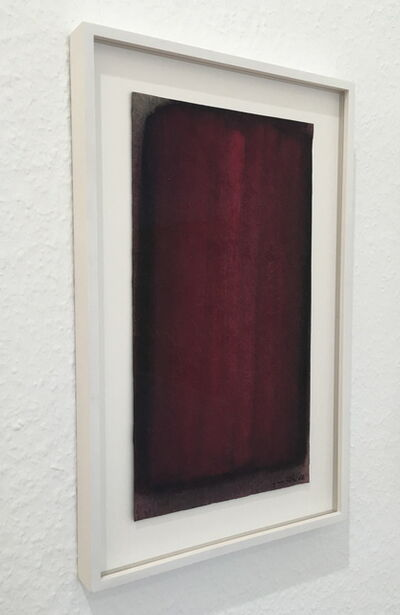 Lothar Quinte, 'Wine-red gouache', 1986