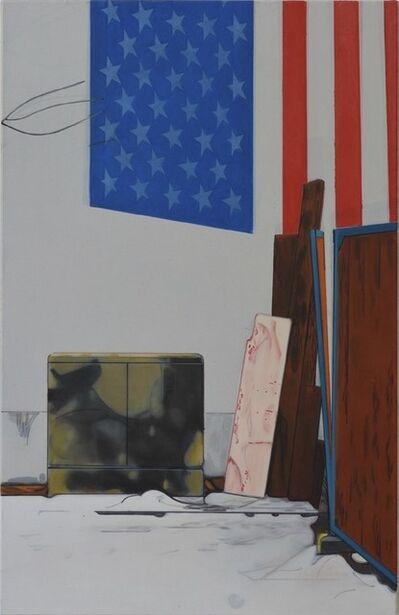 Thoralf Knobloch, 'Warschauer Str., Flagge', 2016