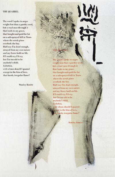 Robert Motherwell, 'The Quarrel', 1983