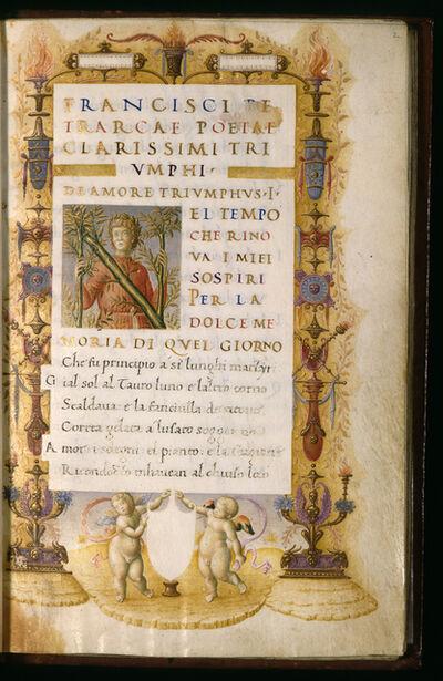 """Bartolomeo Sanvito, 'Portrait of Petrarch in the Incipit Letter """"N""""', ca. 1480"""