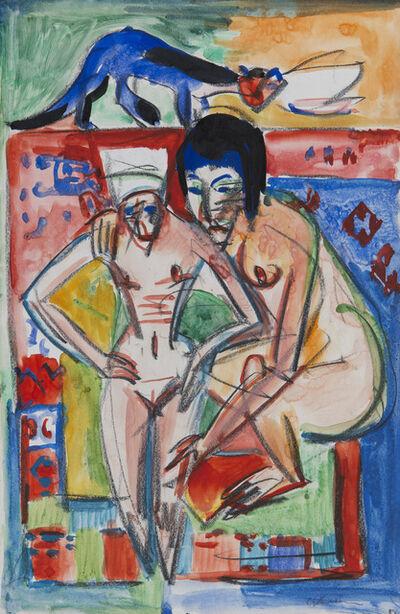 Ernst Ludwig Kirchner, 'Nackte Frau und Mädchen (wohl Anna Müller)', ca. 1925