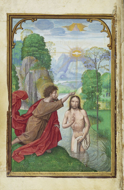 Simon Bening, 'The Baptism of Christ', 1525-1530